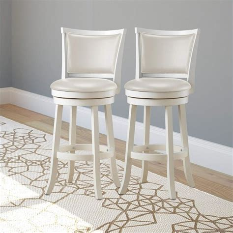 "29"" High Back Bar Stool in White (Set of 2)   DWG 119 B"