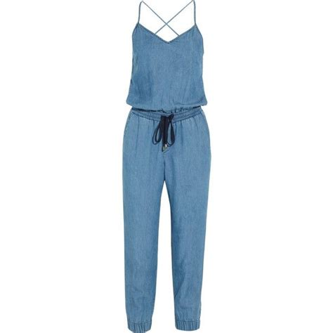 Splendid Chambray jumpsuit (925 PLN) liked on Polyvore featuring jumpsuits jumpsuit playsuit ...