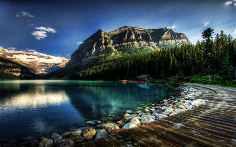 Lake Louise Alberta Canada Fantastic Desktop Wallpaper