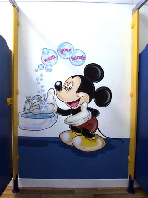 washroom hygiene kids art murals