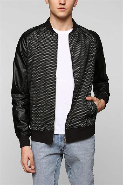Urban Outfitters Damaged Goods Fauxleather Mesh Bomber
