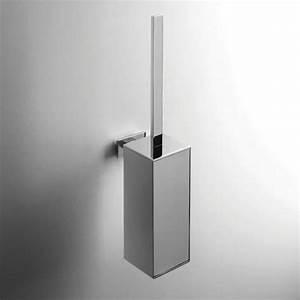 Stand Wc Eckig : designer wand b rstengarnitur look eckig quadro massiv metallbeh lter chrom ~ Markanthonyermac.com Haus und Dekorationen