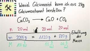 Chemie Molare Masse Berechnen : herstellung von calciumcarbonat berechnung bungsvideo chemie online lernen ~ Themetempest.com Abrechnung