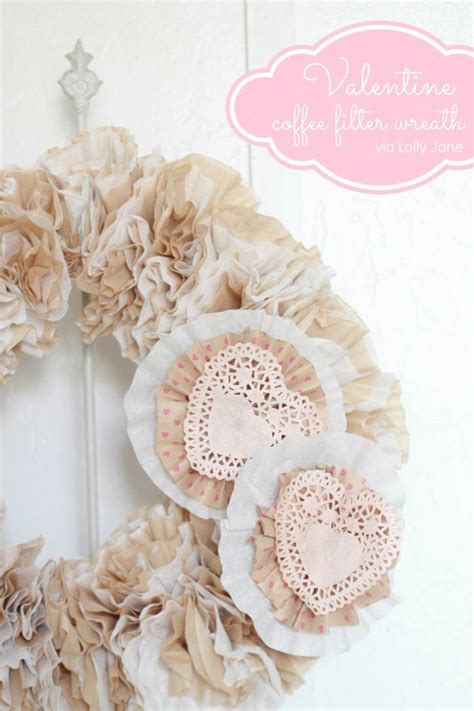But in my case it was the perfect medium to create the white and red wreath i wanted this year. Valentine Coffee Filter Wreath