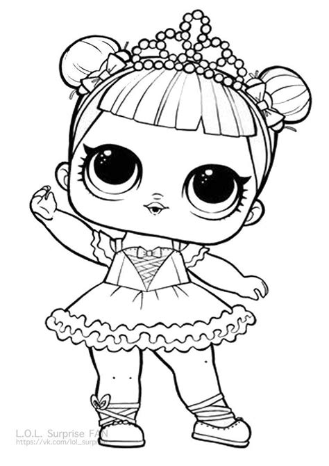 center stage lol doll coloring page lol surprise doll