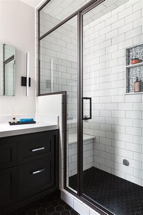 Badezimmer Schwarz Weiss by San Francisco Bathroom Remodel Steam Shower Black Hex