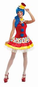 GIGGLES THE SEXY CLOWN ADULT WOMENS COSTUME Color Splash