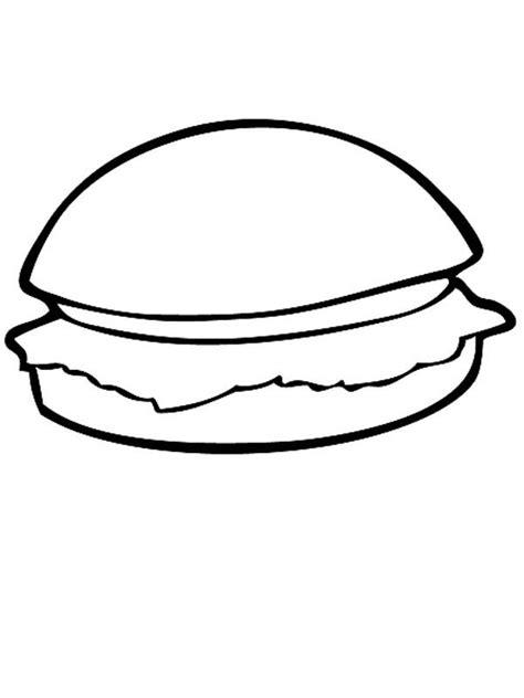 hamburger coloring pages getcoloringpagescom