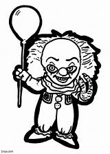 Pennywise Coloring Pages Printable Sheet Horror Print Face Clown Adults sketch template