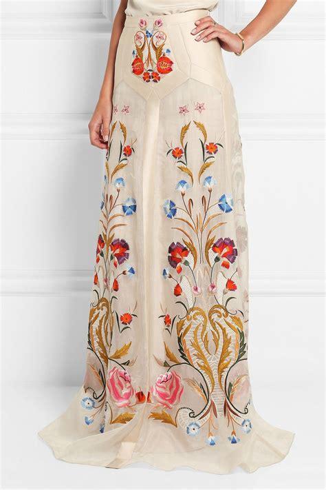 Temperley London Toledo Floral Embroidered Silk Blend