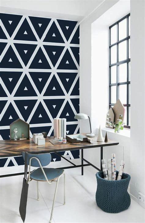 le papier peint geometrique en   avec idees