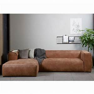Couch Leder Cognac : eckgarnitur bean leder cognac couch polster sofa ecksofa longchair links new maison esto ~ Markanthonyermac.com Haus und Dekorationen