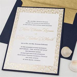 elegant letterpress foil beach wedding invitations with With beach wedding e invitations