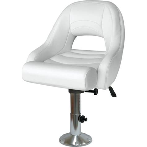 Boat Captains Chair Pedestal by Pontoon Captains Seat With Flip Up Bolster And Adjustable