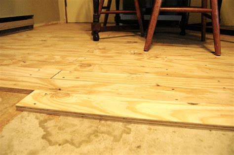 floor photo plywood stained