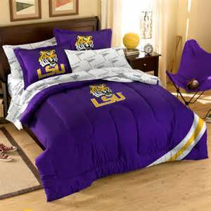lsu tigers 7 piece full size bedding set fanatics com