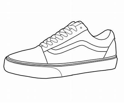 Nike Coloring Shoe Shoes Pages Template