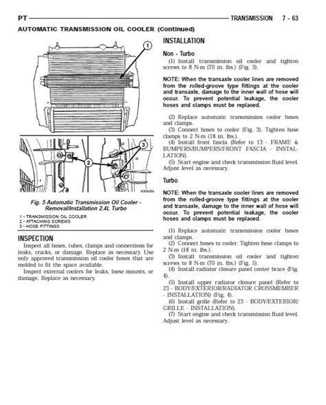 2005 chrysler pt cruiser engine workshop manual chrysler pt cruiser service manual 2001 2005 pdf