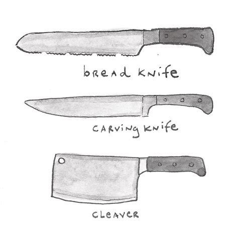 Different Kinds Of Kitchen Knives by Different Types Of Knives An Illustrated Guide