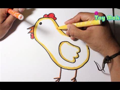 Dibujando una gallina muy fácil para niños y niñas YouTube