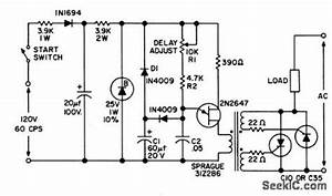 solid state delay with a c output circuit diagram world With simple dc motor speed controller using quad nor gate