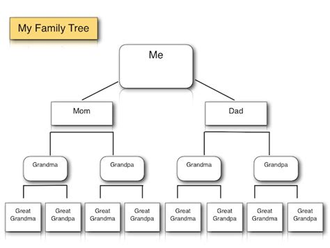 Family Tree Diagram Template Microsoft Word by Family Tree Template For And Iwork Pages K 5