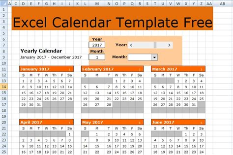 excel calendar template   excel spreadsheets