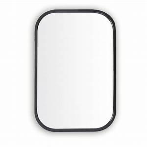 Miroir Metal Noir : miroir retro rectangle noir en m tal tr s tendance aux coins arrondis objet de d coration pour ~ Teatrodelosmanantiales.com Idées de Décoration
