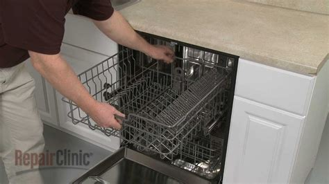lg dishwasher replace upper dish rack assembly ddb youtube