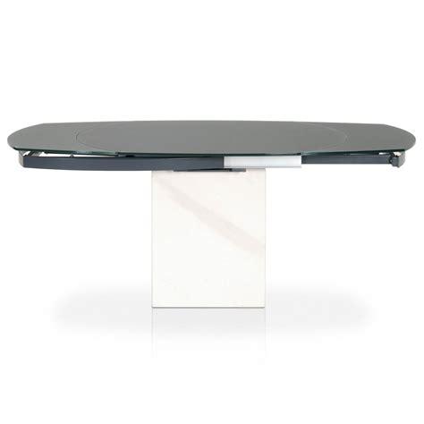 era extension dining table  matte white peter andrews