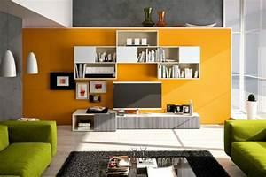 Meuble Mural Salon : meuble mural salon espace rangement accueil design et mobilier ~ Teatrodelosmanantiales.com Idées de Décoration