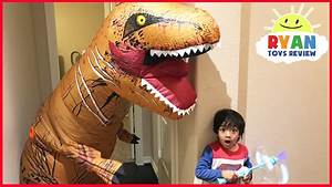 Giant Life Size Dinosaur Pretend Play Hide and Seek - YouTube