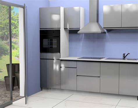 cuisine electromenager cuisine complete avec electromenager mana gris brillant