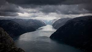 Download, 1920x1080, Norway, Lysefjord, River, Moutains, Dark