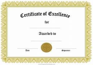 Blank Certificate Pdf  U2013 Printable Birthday Certificates