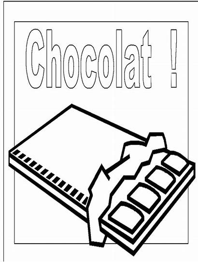 Coloring Chocolate Sweet Bar Milk Clipart Valentine