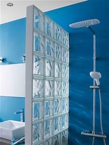 des carreaux de verre comme paroi de douche maisonapart With carreau en verre pour douche