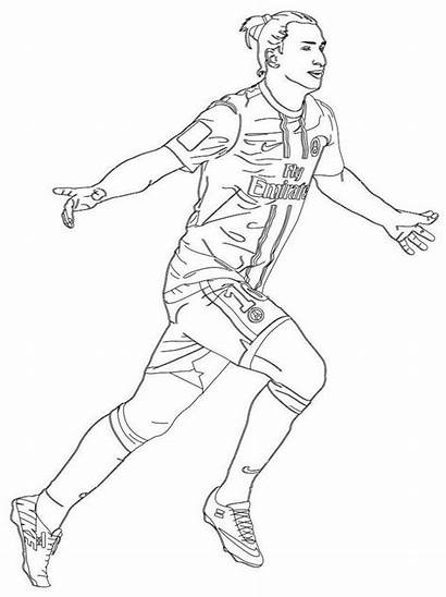 Coloring Zlatan Ibrahimovic Pages Professional Footballer Soccer