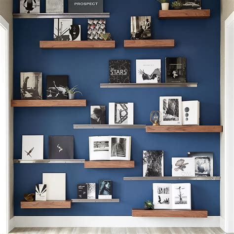 Three By Three Stainless Steel Display Wall Shelves The