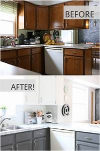 My fixer upper inspired kitchen reveal all things with for Kitchen colors with white cabinets with university of michigan face stickers