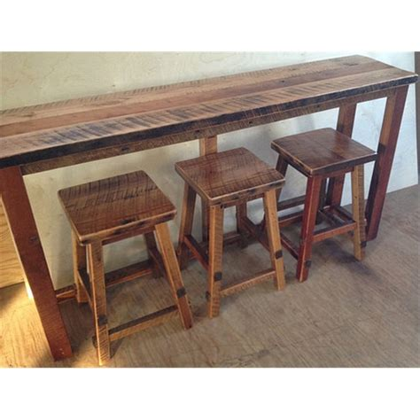 sofa table and stools counter height sofa table wood keaton counter height table