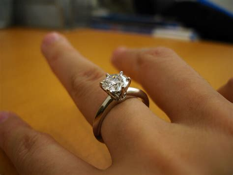bezel engagement ring by and co engagement rings