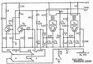 siren warble generaior signal processing circuit With warble alarm siren