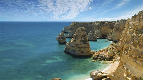wallpaper marinha carvoeiro portugal  beaches