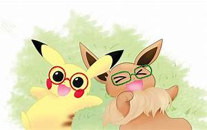 Pikachu and Eevee by treenew on DeviantArt