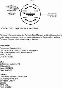 Gatekeeper Systems K9805 Remote Control User Manual