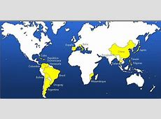 Mapa Mundi FASFI Fundación Ayuda Solidaria Hijas de Jesús