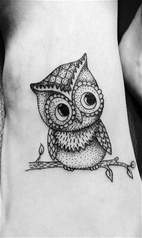 Black and white owl tattoo - | TattooMagz › Tattoo Designs
