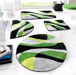 Badteppich Set Grün : 1 st badematte 90 x 160 gr n grau schwarz moos badteppich vorleger neu ebay ~ Markanthonyermac.com Haus und Dekorationen