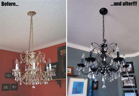 diy   paint  chandelier metal